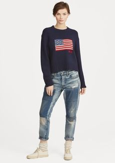 Ralph Lauren Flag Wool-Cashmere Sweater