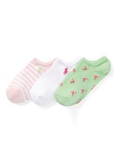 Ralph Lauren Flamingo Ankle Sock 3-Pack
