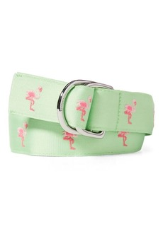 Ralph Lauren Flamingo Grosgrain Belt