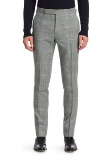 Ralph Lauren Flat-Front Glen Plaid Pants
