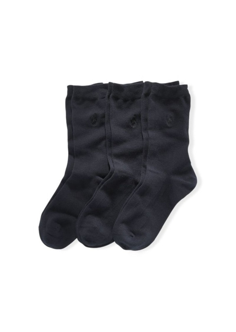 Ralph Lauren Flat Knit Crew Sock 3-Pack
