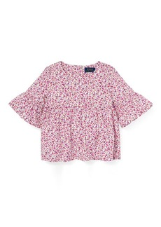 Ralph Lauren Floral Bell-Sleeve Top