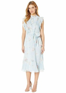 Ralph Lauren Floral Belted Georgette Dress