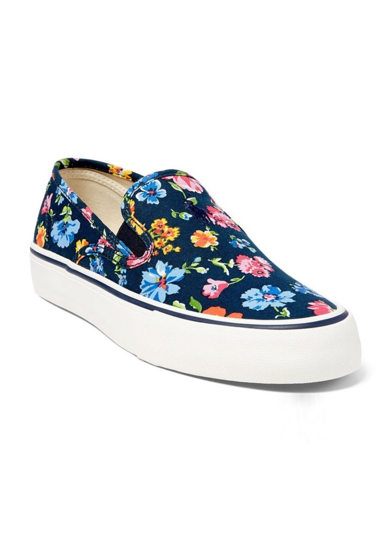 Ralph Lauren Floral Canvas Slip-On Sneaker
