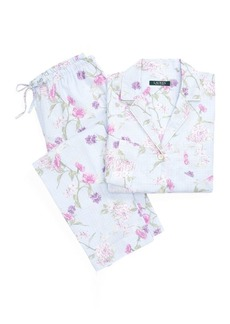 Ralph Lauren Floral Check Cotton Sleep Set