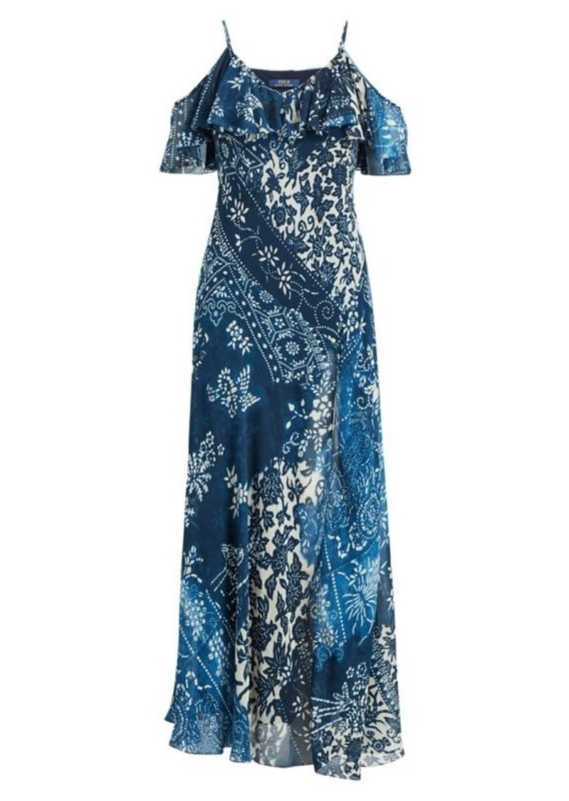 Ralph Lauren Floral Cold-Shoulder Maxidress