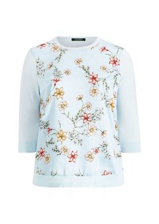 Ralph Lauren Floral Cotton-Blend Sweater