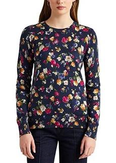 Ralph Lauren Floral Cotton-Modal Sweater