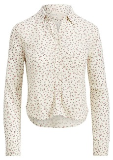 Ralph Lauren Floral Crepe Cropped Shirt
