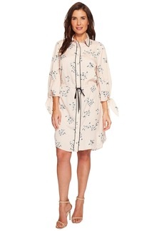 Ralph Lauren Floral Crepe Drawstring Shirtdress