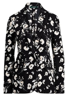 Ralph Lauren Floral Crepe Jacket