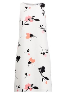 Ralph Lauren Floral Crepe Shift Dress
