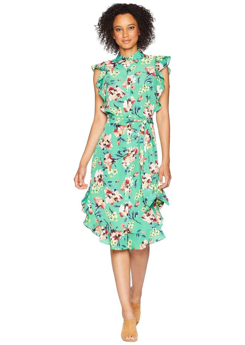Ralph Lauren Floral Crepe Sleeveless Dress
