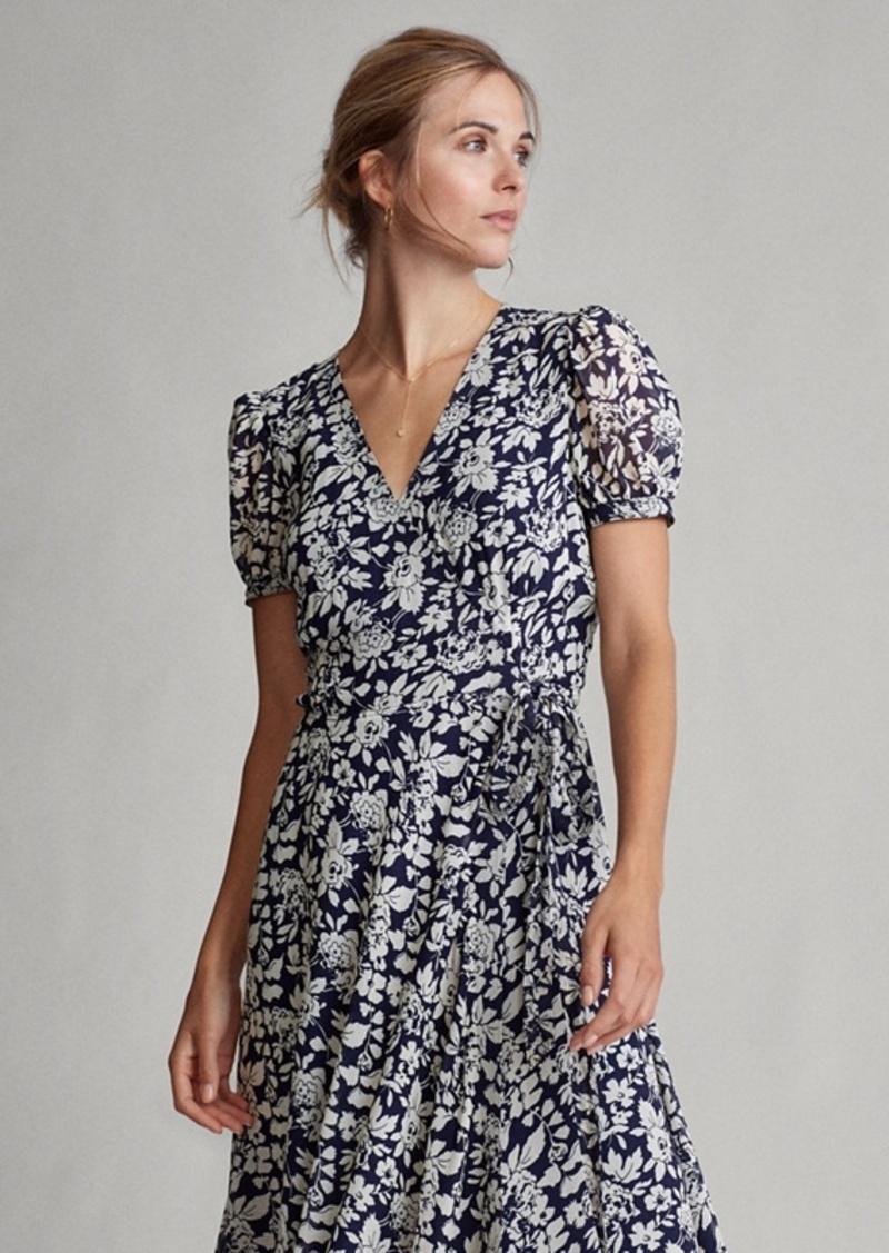 Ralph Lauren Floral Crepe Wrap Dress
