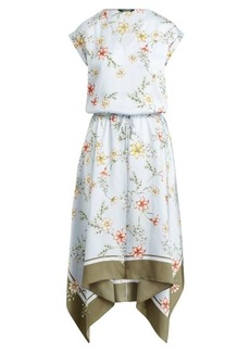 Ralph Lauren Floral Drawstring Twill Dress
