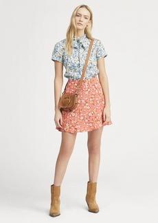 Ralph Lauren Floral Flared Miniskirt