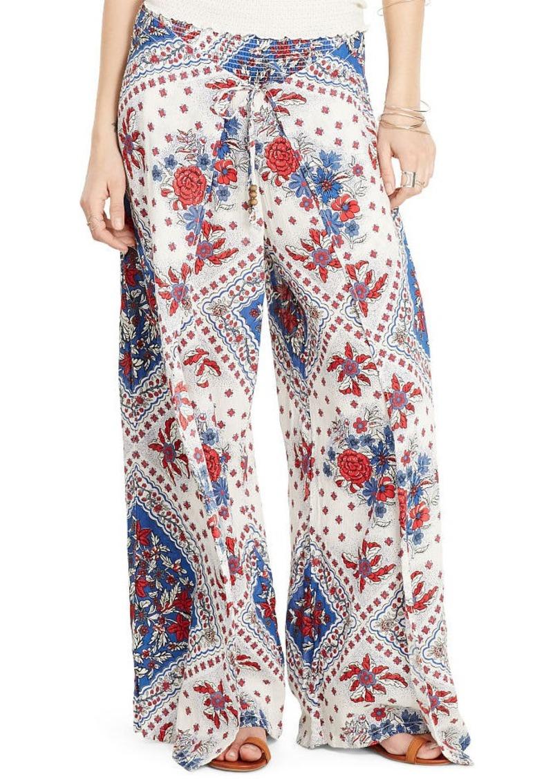 Ralph Lauren Floral Gauze Wide-Leg Pant