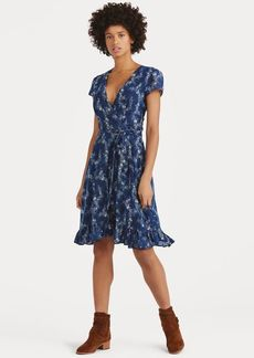 Ralph Lauren Floral Gauze Wrap Dress