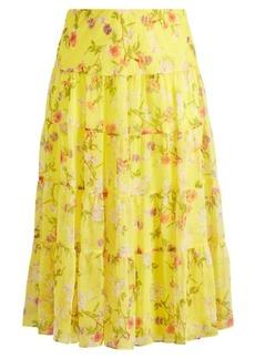 Ralph Lauren Floral Georgette Maxiskirt