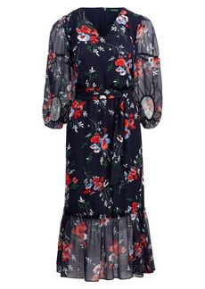 Ralph Lauren Floral Georgette Midi Dress