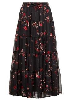 Ralph Lauren Floral Georgette Peasant Skirt