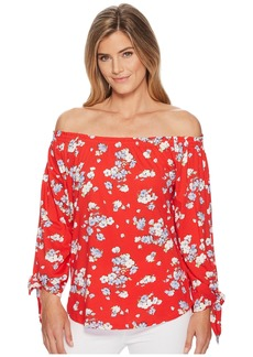 Ralph Lauren Floral Jersey Off the Shoulder Top