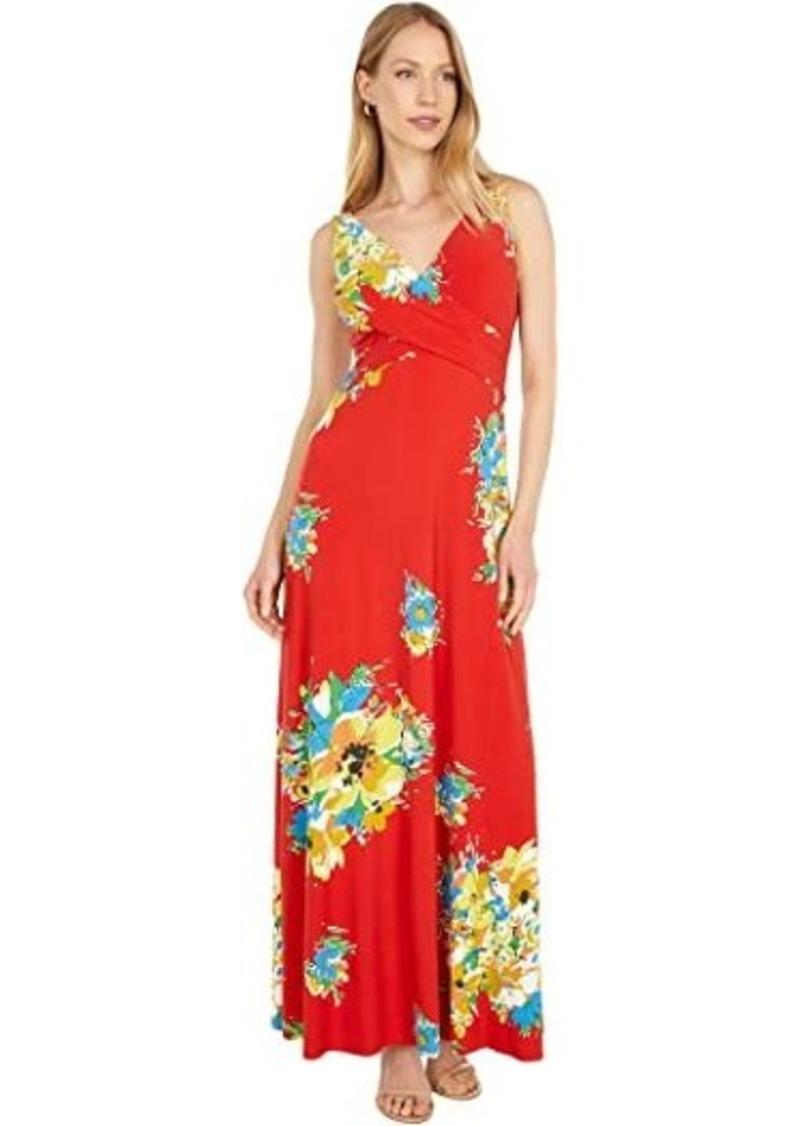 Ralph Lauren Floral Jersey Sleeveless Dress