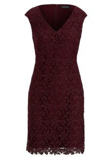 Ralph Lauren Floral Lace Cap-Sleeve Dress