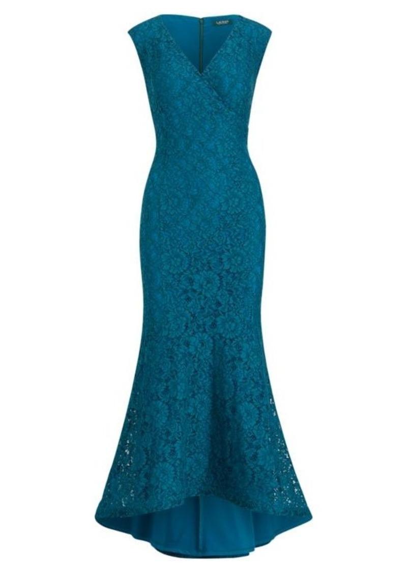 Ralph Lauren Floral Lace Gown   Dresses
