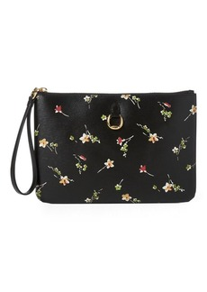 Ralph Lauren Floral Leather Wristlet