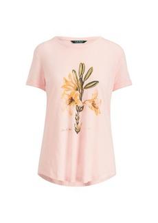Ralph Lauren Floral Linen-Blend T-Shirt
