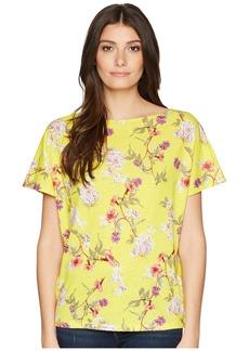 Ralph Lauren Floral Linen-Blend Top