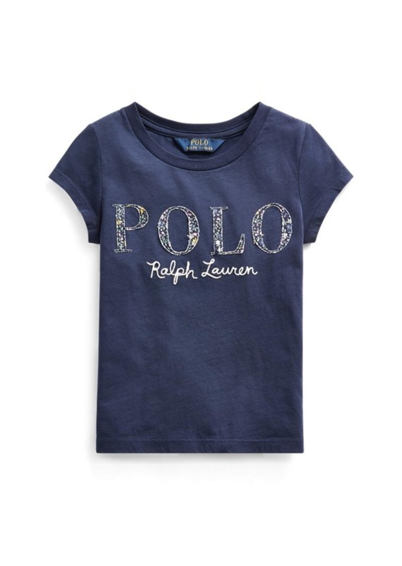 Ralph Lauren Floral-Logo Cotton Jersey Tee