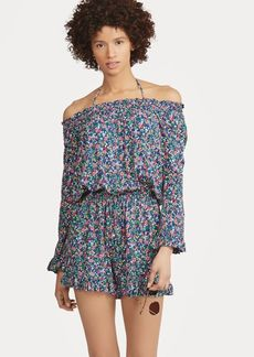 Ralph Lauren Floral Off-the-Shoulder Romper