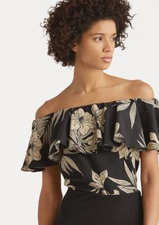 Ralph Lauren Floral Off-the-Shoulder Top