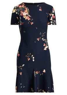 Ralph Lauren Floral-Print Crepe Dress