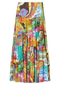 Floral-Print Maxiskirt