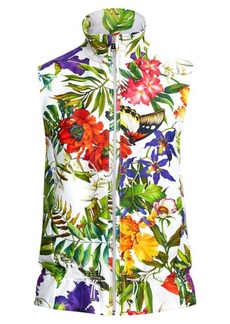 Ralph Lauren Floral-Print Satin Vest
