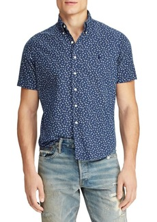 Ralph Lauren Floral-Print Short-Sleeve Oxford Shirt
