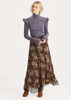 Ralph Lauren Floral-Print Silk Maxiskirt