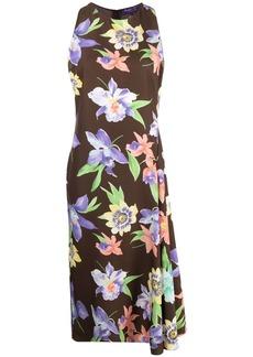 Ralph Lauren floral-print silk midi dress