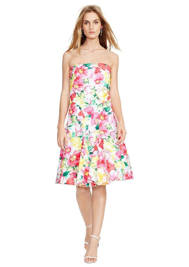 Ralph Lauren Floral-Print Strapless Dress