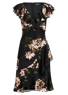 Ralph Lauren Floral-Print Surplice Dress