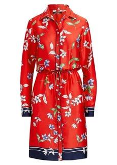 Ralph Lauren Floral-Print Twill Shirtdress