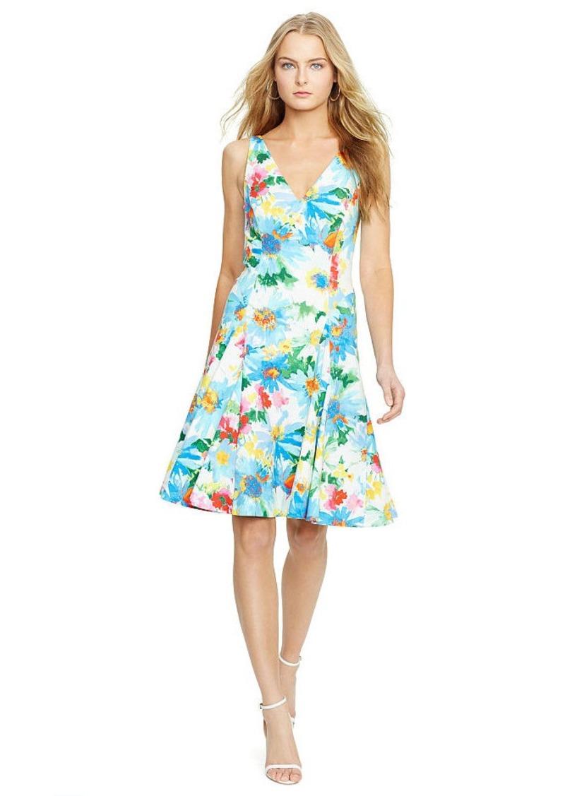 Ralph Lauren Floral-Print V-Back Dress