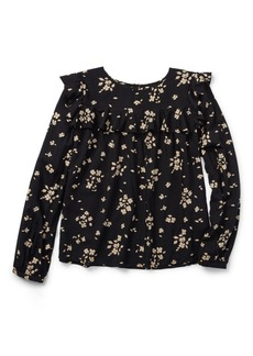 Ralph Lauren Floral Ruffled Top