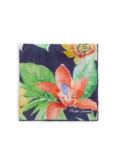 Ralph Lauren Floral Silk Pocket Square