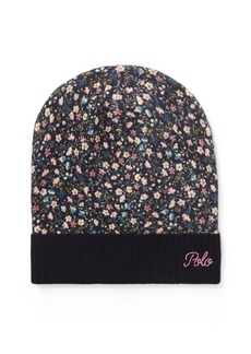 Ralph Lauren Floral Slouchy Wool Hat