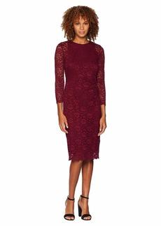 Ralph Lauren Floral Stretch Lace Dexter 3/4 Sleeve Day Dress
