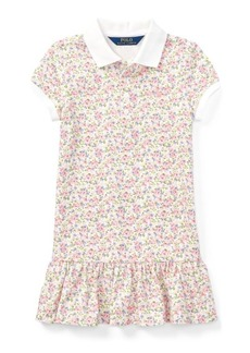 Ralph Lauren Floral Stretch Mesh Polo Dress